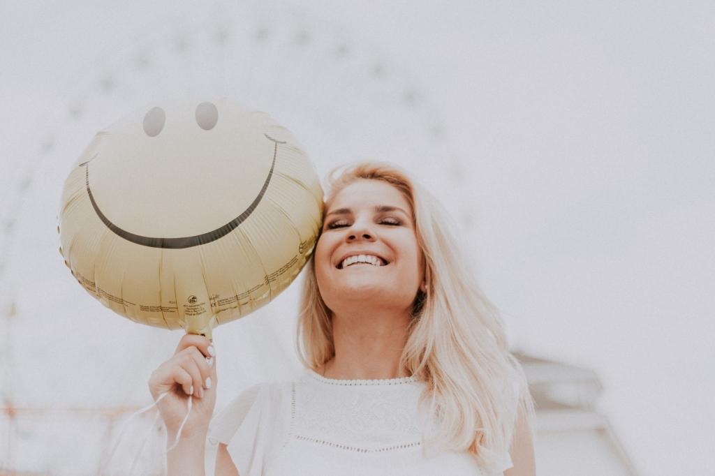 femme qui sourit