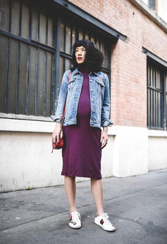 robe rayure femme enceinte